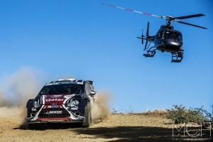 Killian Duffy and Al Kuwari in action at Cyprus Rally
