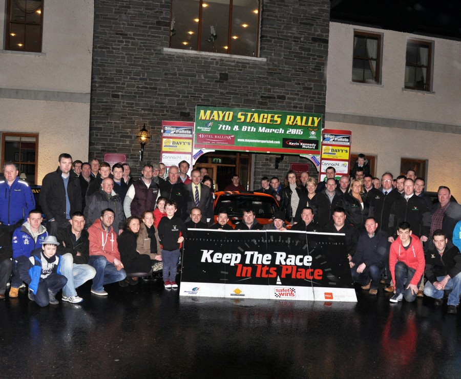 "<span class=""light"">Launch</span> of the Mayo Stages Rally at Hotel Ballina."