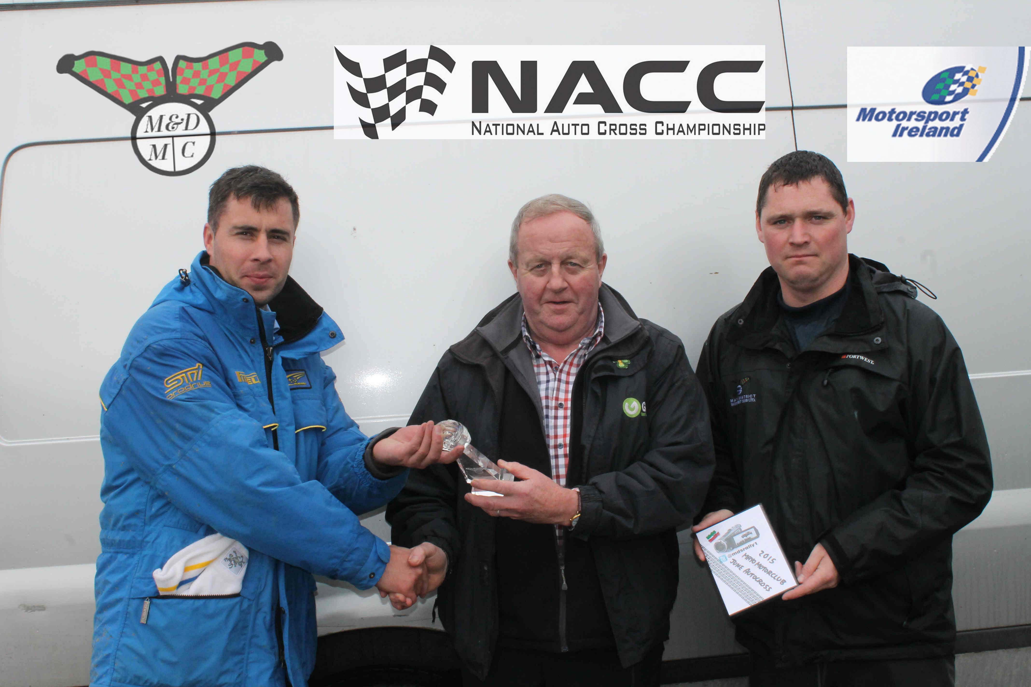 "<span class=""light"">Lto</span> R, Ian Barrett einner, Frank O Connell (Chairman   National Autocross committe & Stephen McGing Event COC copy"