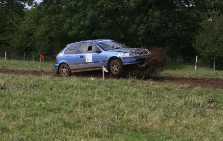 "<span class=""light"">Jason</span> negotiating the grass surface track Pic John Delaney"