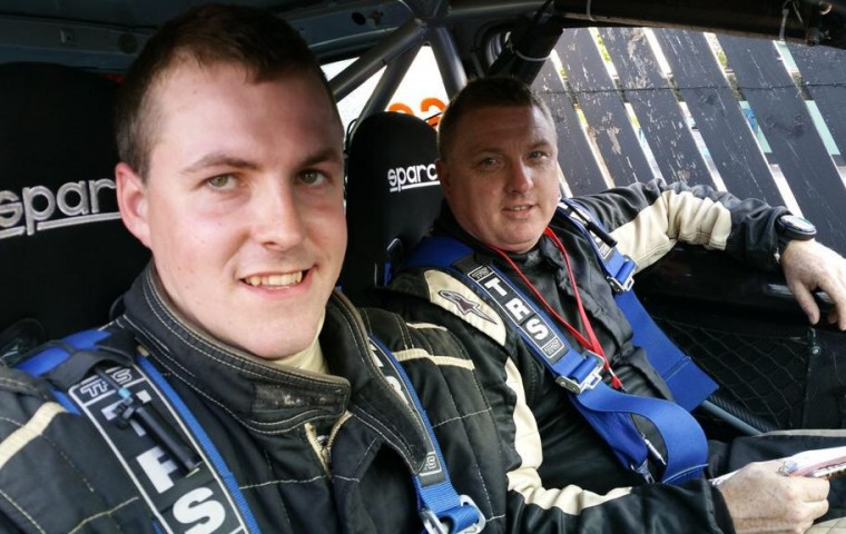 "<span class=""light"">Alan</span> Moran & John Burke at Lakeland forest Rally"
