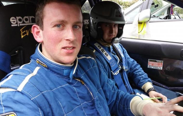 "<span class=""light"">Achill's</span> Brian Lavelle with Navigator Shane Byrne   alongside"