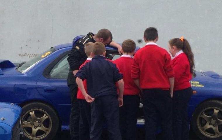 "<span class=""light"">Derek</span> Bolton educates school kids on safety"