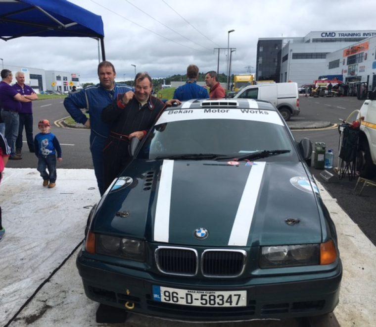 "<span class=""light"">Sean</span> McHugh on 00 duties in his BMW"
