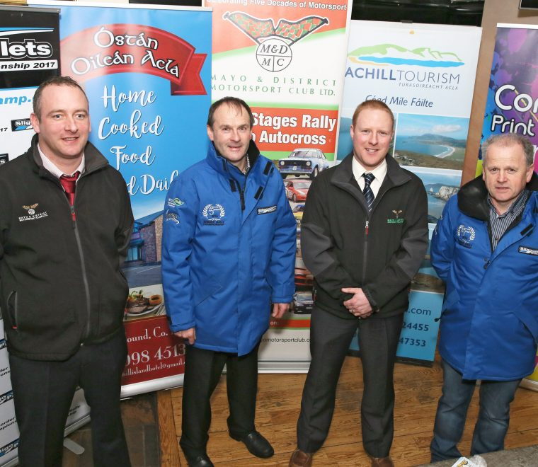 "<span class=""light"">Peter</span> McManamon Deputy Clerk of the Course; Brendan Flynn, Border Rally Championship; Trevor O'Connell Clerk of the Course; Andrew Mullen, MD Sligo Pallets."